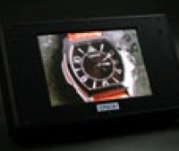 A prototype 14-inch OLED display fabricated with inkjet technology.